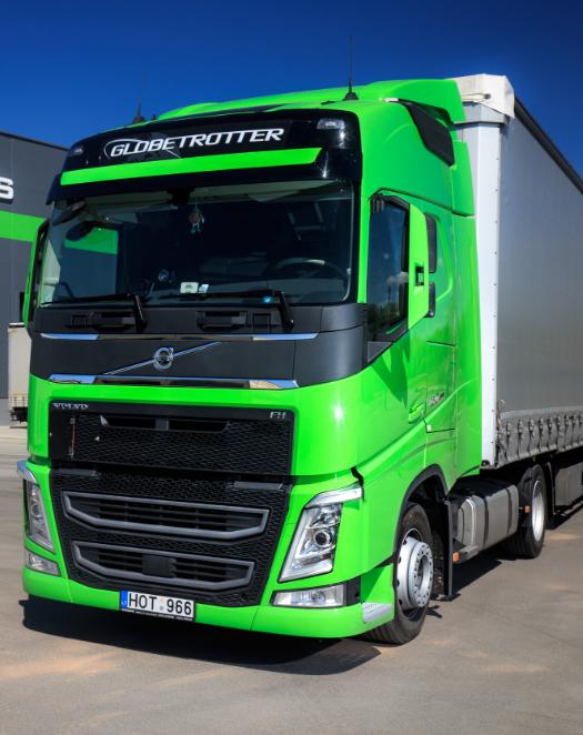 Транспорт логистической компании – тягачи «Volvo», соответствующие высоким экологическим требованиям – всегда готов выполнить задания с максимальной эффективностью и выгодой для клиента. Использование транспорта компании регламентируется правилами: любой автомобиль компании должен быть готов к отправке в любой момент, состояние транспорта оценивается после каждого рейса. Автопарк компании насчитывает более 100 тягачей.      Транспортные средства компании оснащены интеллектуальными системами безопасности и слежения, в каждом тягаче имеется оборудование GPS для наблюдения за процессом транспортировки. Кроме того, внутренние транспортные правила компании предусматривают различную ответственность. Одной из них является то, что ремонт и техническое обслуживание автомобиля компании «Сирамис» всегда должны выполняться своевременно и безупречно, обеспечивая максимально хорошее техническое состояние автомобиля.      Перевозка грузов осуществляется тентованными автопоездами, тягачами со стандартными полуприцепами и тягачами с тентованными полуприцепами «mega».
